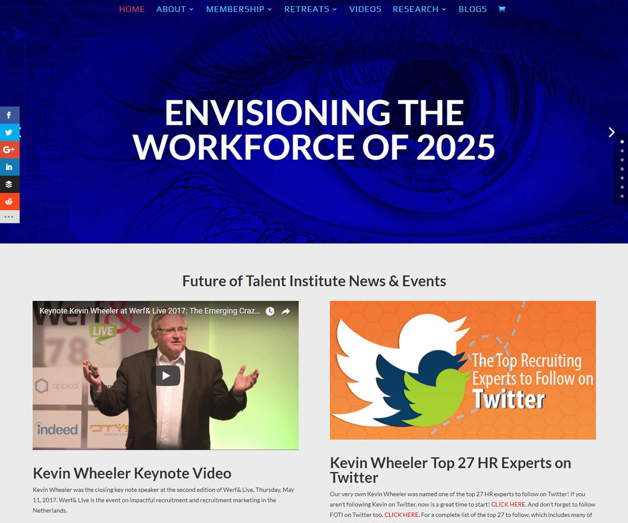 Website Design Business Websites FUTURE OF TALENT INSTITUTE - Foss Marketing Group - Sacramento web design