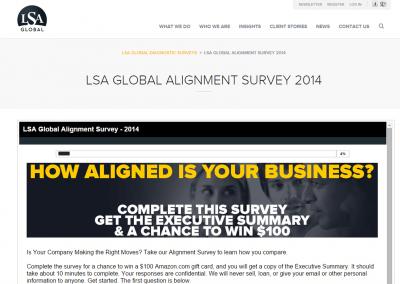 LSA-GLOBAL-ALIGNMENT-SURVEY-2014